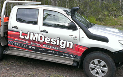 Support. LJMDesign Provides Quality Printing, Signs and Websites. Cairns and Townsville North Queensland.